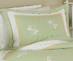 Green Dragonfly Dreams Pillow Sham