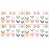 Grey, Coral and Mint Woodland Arrow Baby, Childrens and Kids Wall Decal Stickers by Sweet Jojo Designs - Set of 4 Sheets