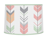 Grey, Coral and Mint Woodland Arrow Lamp Shade by Sweet Jojo Designs