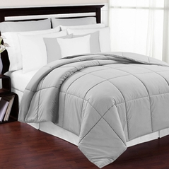 Grey Down-Alternative Comforter<br> Available in Twin & Queen Sizes
