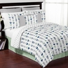 Grey, Navy Blue and Mint Woodland Arrow 3pc Full / Queen Bedding Set by Sweet Jojo Designs