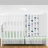 Grey, Navy Blue and Mint Woodland Arrow  Baby Bedding - 11pc Crib Set by Sweet Jojo Designs