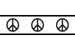Groovy Peace Sign Baby and Kids Wall Border by Sweet Jojo Designs