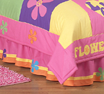 Groovy Queen Kids Children's Bed Skirt by Sweet Jojo Designs