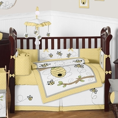 Honey Bee Baby Bedding - 9pc Crib Set by Sweet Jojo Designs