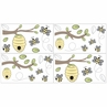 Honey Bee Baby, Childrens and Kids Wall Decal Stickers - Set of 4 Sheets