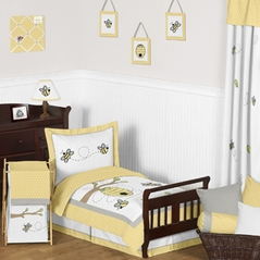Honey Bee Toddler Bedding - 5pc Set by Sweet Jojo Designs