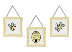Honey Bee Wall Hanging Accessories by Sweet Jojo Designs