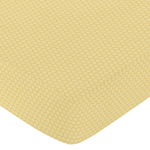 JoJo Designs Honey Bee Honeycomb Fitted Crib Sheet Yellow
