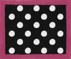 Hot Dot Modern Accent Floor Rug by Sweet Jojo Designs