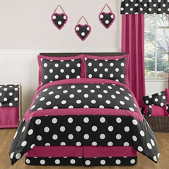 Hot Dot Modern Childrens and Teen Bedding by Sweet Jojo Designs - 3pc Full / Queen Set