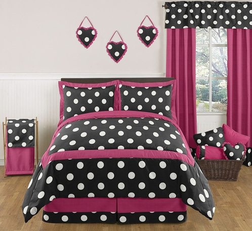 Hot Dot Modern Childrens and Teen Bedding by Sweet Jojo Designs - 3pc Full / Queen Set - Click to enlarge