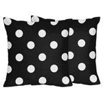 Hot Dot Modern Decorative Accent Throw Pillows by Sweet J...