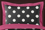 Hot Dot Modern Girls Pillow Sham by Sweet Jojo Designs