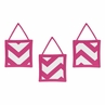 Hot Pink and White Chevron Wall Hanging Accessories by Sweet Jojo Designs