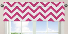 Hot Pink and White Chevron�Collection Zig Zag Window Valance
