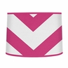 Hot Pink and White Chevron ZigZag Lamp Shade by Sweet Jojo Designs