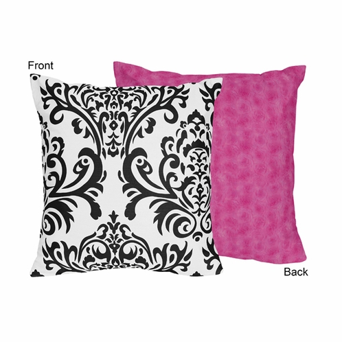 Hot Pink Black And White Isabella Decorative Accent Throw