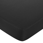Hot Pink, Black and White Isabella Fitted Crib Sheet for Baby/Toddler Bedding Sets - Black