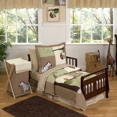 Jungle Adventure Animal Safari Toddler Bedding - 5pc set