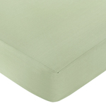 Jungle Safari Fitted Crib Sheet for Baby and toddler Bedding Sets by Sweet Jojo Designs - Solid Green