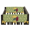 Jungle Time Baby Crib Side Rail Guard Covers by Sweet Jojo Designs - Set of 2