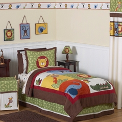 Jungle Time Children & Kids Bedding - 4 pc Twin Set