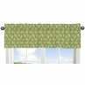 Leaf Print Window Valance for Jungle Time Collection by Sweet Jojo Designs