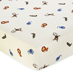 Jungle Time Fitted Crib Sheet for Baby and Toddler Bedding Sets - Animal Print