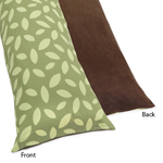 Jungle Time Full Length Double Zippered Body Pillow Case Cover by Sweet Jojo Designs