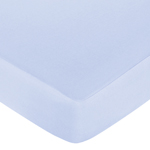 Khaki and Blue Camo Fitted Crib Sheet for Baby and Toddler Bedding Sets by Sweet Jojo Designs - Solid Blue