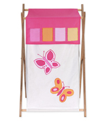 Kids Laundry Hamper for the Pink and Orange Butterfly by Sweet Jojo Designs