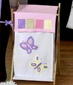 Kids Laundry Hamper for the Pink and Purple Butterfly by Sweet Jojo Designs