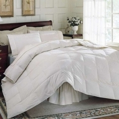 King White Feather Down Comforter