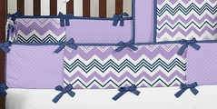 Lavender and Blue Zazzle Baby Crib Bumper Pad