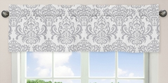 Lavender and Gray Elizabeth Window Valance by Sweet Jojo Designs