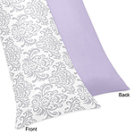 Lavender and Gray Elizabeth Full Length Double Zippered Body Pillow Case Cover by Sweet Jojo Designs