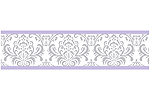 Lavender and Gray Elizabeth Kids and Baby Modern Wall Paper Border by Sweet Jojo Designs