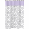 Lavender and Gray Elizabeth Kids Bathroom Fabric Bath Shower Curtain by Sweet Jojo Designs