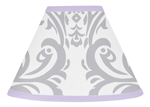 Lavender and Gray Elizabeth Lamp Shade by Sweet Jojo Designs
