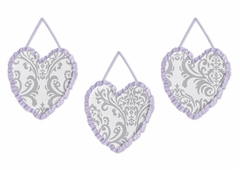 Lavender and Gray Elizabeth Wall Hanging Accessories by Sweet Jojo Designs
