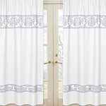Lavender and Gray Elizabeth Window Treatment Panels by Sw...
