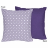 Lavender and Purple Sloane Decorative Accent Throw Pillow by Sweet Jojo Designs