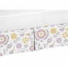 Lavender and White Floral Crib Bed Skirt for Suzanna�Baby Bedding Sets by Sweet Jojo Designs