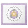 Lavender and White Suzanna Accent Floor Rug by Sweet Jojo Designs