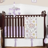 Lavender and White Suzanna Baby Bedding - 11pc Crib Set by Sweet Jojo Designs