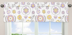 Lavender and White Suzanna Window Valance by Sweet Jojo Designs