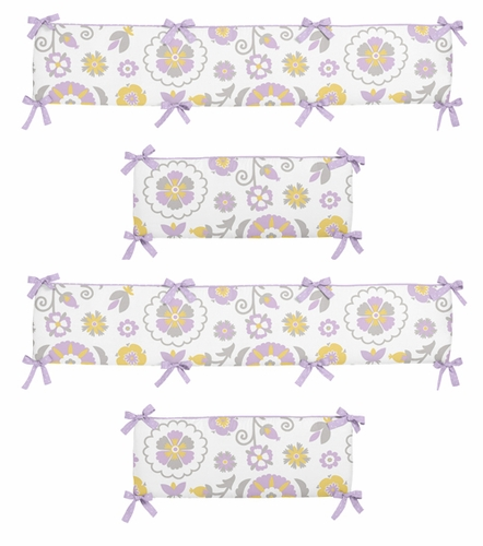 Lavender And White Suzanna Collection Crib Bumper By Sweet