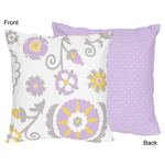 Lavender and White Suzanna Decorative Accent Throw Pillow...