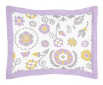 Lavender and White Suzanna Pillow Sham by Sweet Jojo Designs